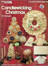Candlewicking Christmas 41 Designs Leisure Arts 262 Vtg 1983 Embroidery ... - $4.79