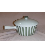 Danild Lyngby Denmark 1 1/2 Quart Casserole Green Striped Pot W/ Handle ... - $17.99