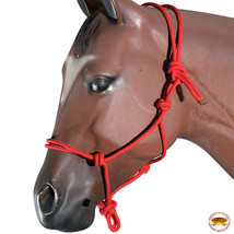 Red Horse Halter Braided Poly Rope Western Tack By Hilason U-A404 - $18.47