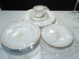 MIKASA Silk Moire CAG01 ~ 5 Piece Setting for One ~ In Orig Box - $27.95