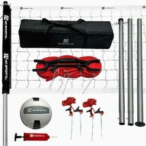 Volleyball Net Set Official Size Beach Park Regulation Sport Outdoors Te... - $74.24
