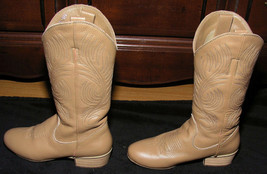 Women's Dance Boots Sz 5.5 Narrow AA Western Cowboy Faux Leather Stage S... - $31.99