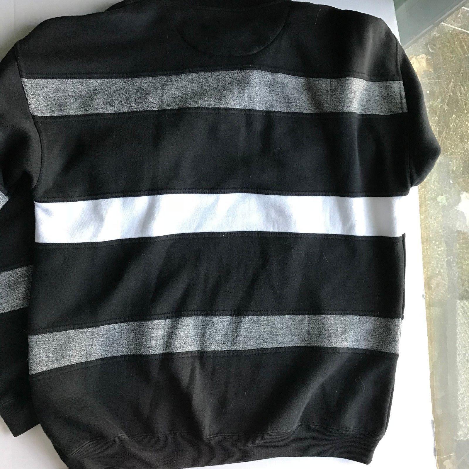 Mens ONLINE Asics Long Sleeved Large Black White Gray Long-Sleeved Shirt