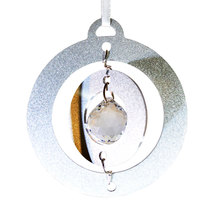 3D Aluminum and Crystal Circle Ornament image 10