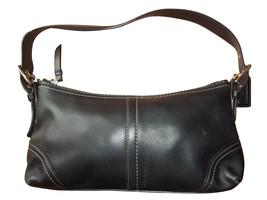 Coach Hamptons Black Leather Demi Bag 11195 - $556,49 MXN