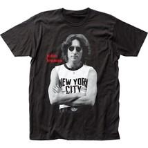 John Lennon NYC B&W Black T-Shirt Men's Officially Licensed Band Tee S-M... - $20.00