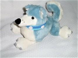 "MANHATTAN TOY - Blue plush DOG - 2002 - 8""H, 9""L - $149.48"