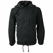 Men's Water Resistant Polar Fleece Lined Hooded Windbreaker Rain Jacket image 4