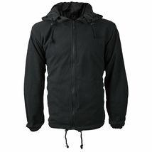 Men's Water Resistant Polar Fleece Lined Hooded Windbreaker Rain Jacket image 4