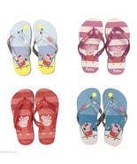 1 Pair Girls Peppa Pig flip flops beach sandals shoes thongs, Pink - $5.31