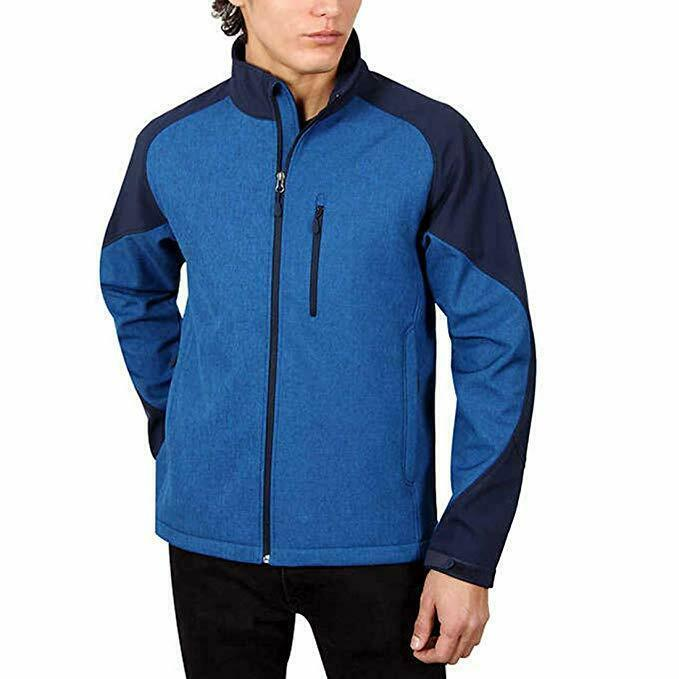 Primary image for Kirkland Signature Men's Softshell Jacket (XL, Marine Blue Heather) - NEW