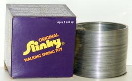 Vintage 1980s Original Metal SLINKY Walking Spring Toy by James Industri... - $15.00