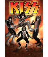 KISS Rock Band 2012 Marvel Comic Reproduction Counter Top Stand-Up Display - $15.99