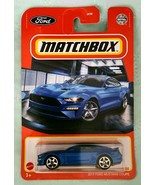 2021 MATCHBOX 2019 FORD MUSTANG COUPE BLUE DIECAST CAR 31/100 SAME-DAY FREE SHIP - $6.91