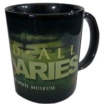 WWII National Museum Beyond All Boundaries Coffee Mug 10 Ounce Combat Helmet - $21.77