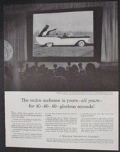 1957 print ad J Walter Thompson advertising Ford Retractable Top Car Auto - $8.91