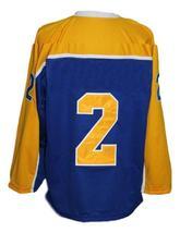 Custom Name # Mohawk Valley Stars Retro Hockey Jersey New Blue Any Size image 2