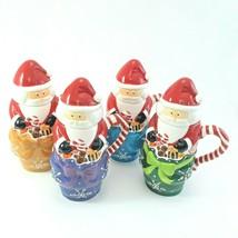Temptations 24 oz Santa Mugs W/ Lids Set of 4 image 2