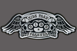 BRASS KNUCKLES WING EMBROIDERED 5 INCH BIKER PATCH - $5.45