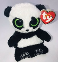 "Plush TY Beanie PANDA POO Peek A Boos Cell Phone Holder 4.5"" H with TAGS  - $20.69"