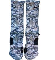 Custom Snakeskin Nike Elite Socks ALL Sizes FAST SHIPPING - $23.99