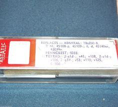 ASTATIC 1266D PHONOGRAPH CARTRIDGE for Electro-Voice EV 5508D V-M Phonola Sears image 4