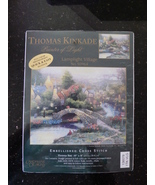 "Thomas Kinkade Embellished Cross Stitch Kit 8"" by 10"" Lamplight Village NIP - $12.00"