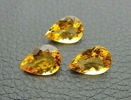 Natural Golden Citrine Loose Gemstone Pear Cut Lot - 14X10 mm  - 13-Cts ... - $47.49