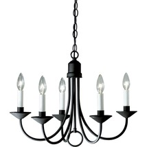21 in. 5-Light Textured Black Chandelier - $77.11
