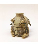 Worley Faver Pottery 3D Dragon Vase Earthenware 3.75 Inches Tall Small Chip - $69.29