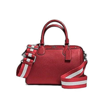 Coach coach mini bennett satchel in cross grain leather with webbed strap  - $219.00