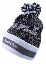 Staple Breakaway Mitchell Ness Respect All Fear None Charcoal Pom Beanie Hat NWT image 1