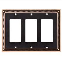 Franklin Brass W35067-VBC-C Classic Beaded Triple Decorator Wall Plate /... - $24.38