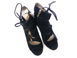 Sam Edelman Palma Women's Shoes Black Suede Strappy High Heels Size 9 Open Toe - $45.00