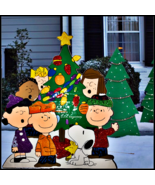 Nostalgic PEANUTS Gang OH CHRISTMAS TREE Glitter Enhanced Metal Outdoor ... - $108.90
