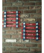 Funny Patriotic Decor, Americana, Flag Theme with Humorous Message, Hand... - $25.00