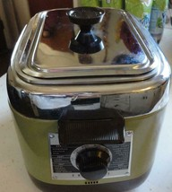 Nesco Fryryte Automatic Electric Deep Fryer Vintage Avacado Green Retro - $29.69