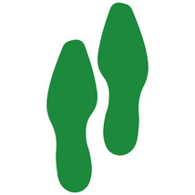 LiteMark Green Removable Dress Shoe Footprint Decal Stickers - Pack of 12 - $19.95