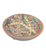 Shabby Chic Large Mosaic Footed Bowl - $275.00