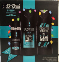 AXE Apollo Holiday 3-Pc Gift Set Deodorant Body Spray, Wash, Shampoo+Cond - $19.98