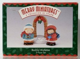 Hallmark Merry Miniatures Bashful Mistletoe 3pc Set - $5.94