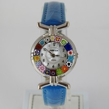 ANTICA MURRINA VENEZIA QUARTZ WATCH 27 MM, BLUE, MURANO FLOWER GLASS