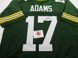 DAVANTE ADAMS - GREEN BAY PACKERS - HAND SIGNED PACKERS CUSTOM JERSEY - W/ COA