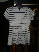 Xerox H&M M women top black white shirt - $13.00+