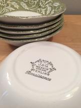 """Set of 6 vintage 60s J & G Meakin Renaissance (green) pattern 5 1/4"""" bowls image 2"""