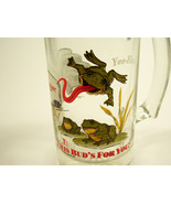 GLASS BUDWEISER FROGS BEER MUG - 18 WHEELER TRUCK THIS BUDS FOR YOU! 1996 - $3.99