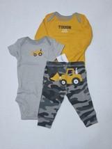 Carter's 3 Piece Set for Boys Newborn Tough Like Daddy Bulldozer - $13.95