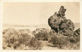 Real Photo Postcard NV I494 Pyramids at Pyramid Lake Nev Rock Formations... - $8.50