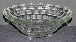 "Indiana Glass Whitehall Clear Pattern Footed Bowl 10"" Round - $16.99"