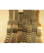LOT OF 7 18 19 & 20MM SEIKO CLASP BANDS INCLUDING 2 RICE BEAD MISSING EN... - $525.00